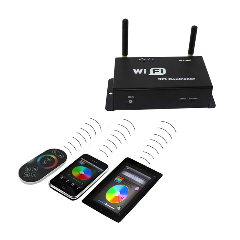 LMID WiFi SPI Controller DC5-24V Android IOS system Support LPD6803 WS2801 WS8211 LED Pixel Strip new wifi dmx controller controlled by android or ios system wifi multi point controller wf310 free shipping