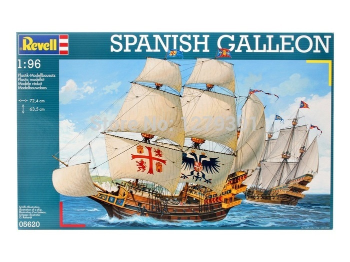US $132 99 |Revell plastic saill ship model kit 05620 in 1:96 scale Spanish  Galleon medieval war ship, for hobby,decoration,gift collection-in Model