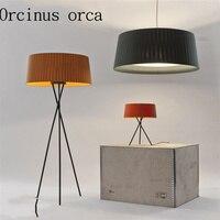 Post modern Nordic cloth art three feet floor lamp living room study decorative lamp simple art vertical desk lamp