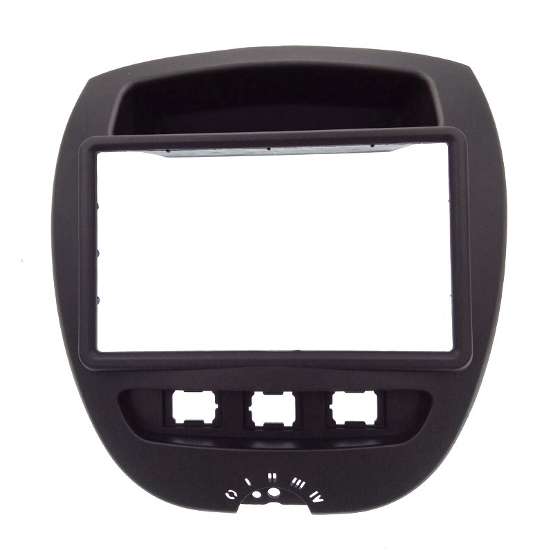 2 Din Car DVD Facia for Toyota* Aygo* /Citroen* C1/Peug*eot 107 2005 2014 Fascia Dash Kit Radio Panel Stereo Cover Plate Trim-in Fascias from Automobiles & Motorcycles