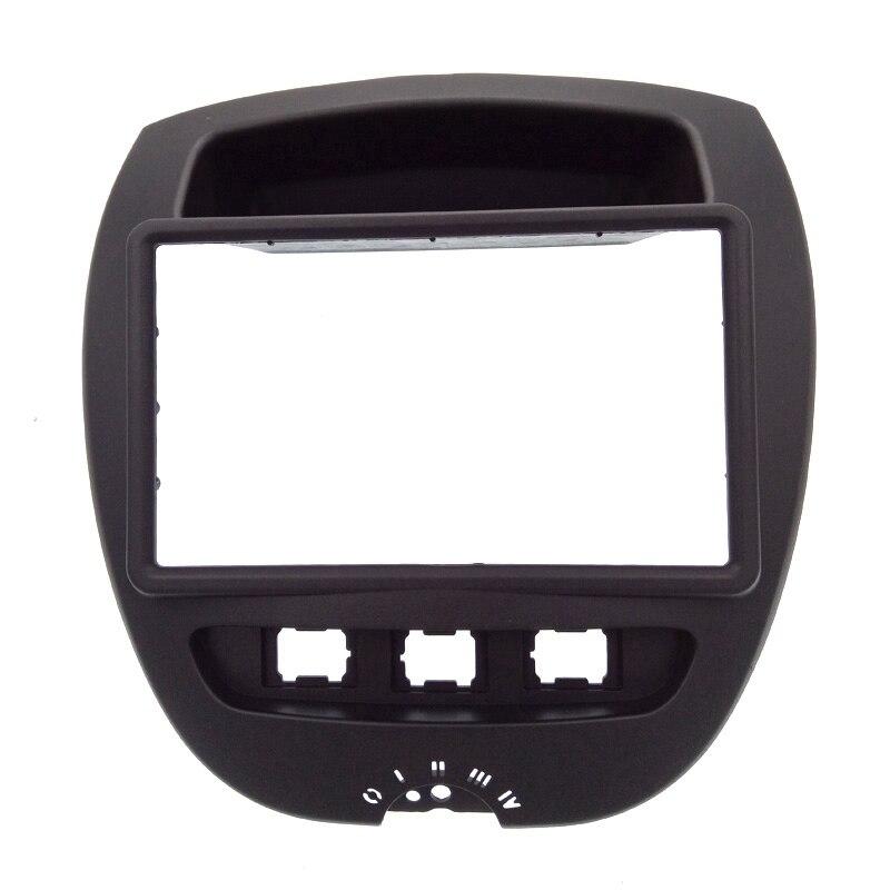 2 Din автомобильный DVD Facia для Toyota Aygo Citroen C1 Peugeot 107 2005-2014 Fascia Dash Kit радио Панель покрытие для стереосистемы накладка