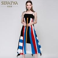 High Quality Elegant Summer New Korean Tank Beach Chiffon Dress Brand Sleeveless Strapless Patchwork Dresses For