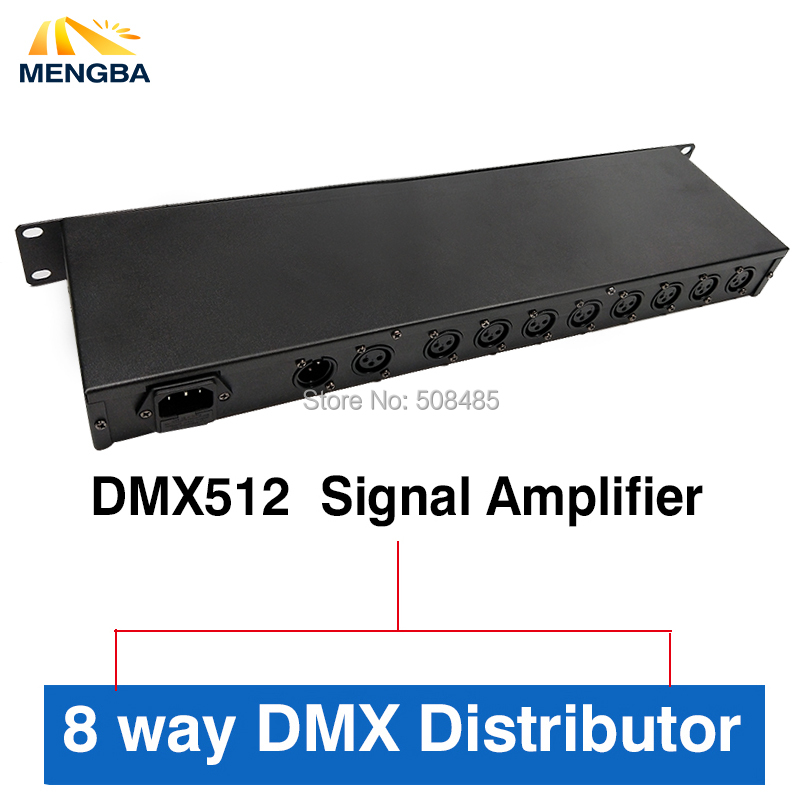 2018 Newest DMX512 Splitter Light Signal Amplifier Splitter 8 way DMX Distributor for stage Equipment Stage Light Controller dmx512 digital display 24ch dmx address controller dc5v 24v each ch max 3a 8 groups rgb controller