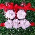 Новорожденных Девочек sapato де bebe menina детская обувь, Милый ребенок обувь первые ходунки, Детская обувь Повязка Комплект девушки детские скрипучие ботинки