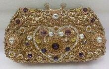 Freies verschiffen!! B15, mode top kristallsteinen ring handtaschen für damen nette parteibeutel