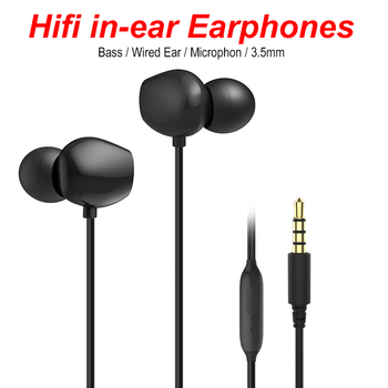 50 PCS Wholesale Clear Bass Stereo Ergonomic In-ear Earphones 3.5mm Jack Wired Earphones Headset Earbuds with MIC for Iphone
