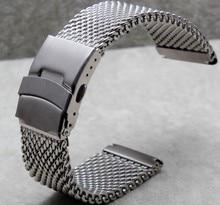 24 mm relojes de pulsera de reloj de la pulsera del acoplamiento del acero inoxidable Shark buceo nueva correa