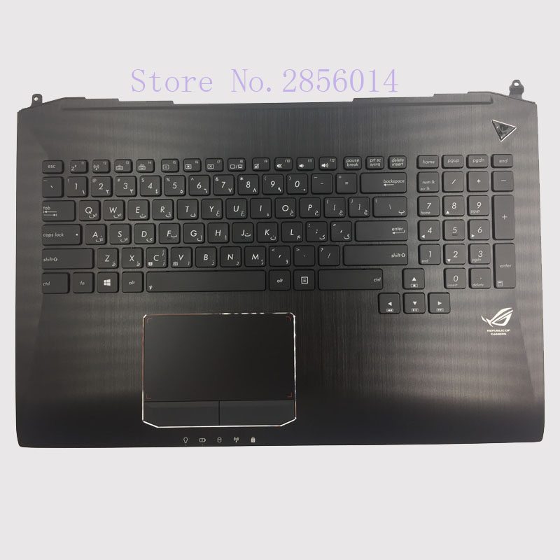 Persia/Hebrew Keyboard For Asus G750 G750JX G750JW G750JH G750JM Laptop keyboard backlit Palmrest Upper for asus mp 09h63us 528 0kn0 ei1us0212463002413 laptop keyboard