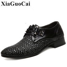 Genuine Leather Shoes Men Summer British Dress Shoes Hollow Breathable Lace up Business Shoes Classics Casual