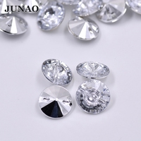 13 34mm White Clear Color Rhinestones Buttons Round Sewing Strass Button Crystal Stones For Coats Clothes