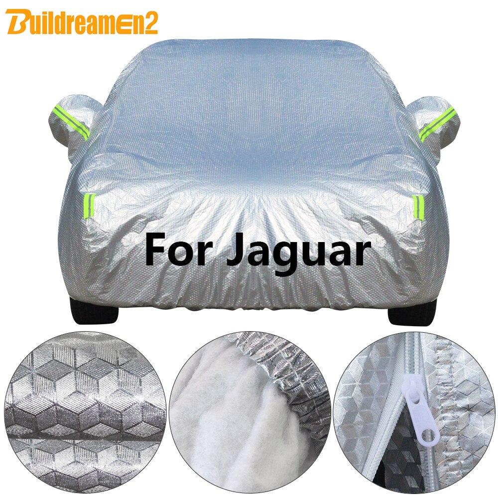 Buildremen2 Thick Cotton Car Cover Waterproof Sun Snow Rain Hail Prevent Cover For Jaguar S Type