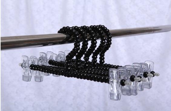 Sainwin 5ks / ks 30cm Dospělý Pearl Věšáky na šaty Plastový Háček Folder Klipy Black Bra hák