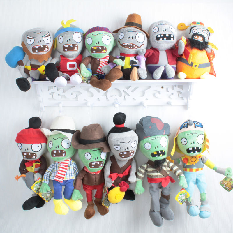 16 Styles Plants vs Zombies Plush Toys 30cm Plants vs Zombies Soft Stuffed Plush Toys for Kids Gifts new arrival plants vs zombies plush toys 30cm pvz pirate green zombies soft stuffed toys game figure statue toy for kids gifts