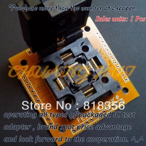 IC TEST TQFP48 QFP48 FPQ48 test socket FPQ-48-0.5-06 socket Adapter Pitch=0.5mm Size=7X7mm /9X9mm