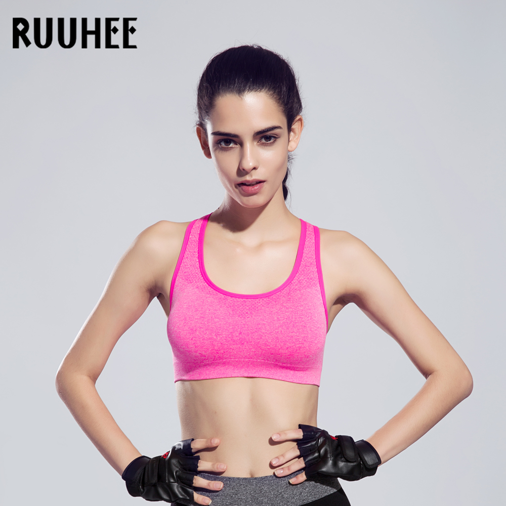 3aa888d210 RUUHEE Sports Bra For Women Running Shakeproof Push Up Underwear Gym Wire  Free Padded Woman Summer Anti sweat Fitness Top Bras-in Sports Bras from  Sports ...