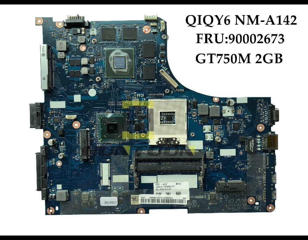 High quality QIQY6 NM A142 FOR Lenovo Ideapad Y500 Laptop Motherboard FRU 90002673 HM76 PGA989 GT750M