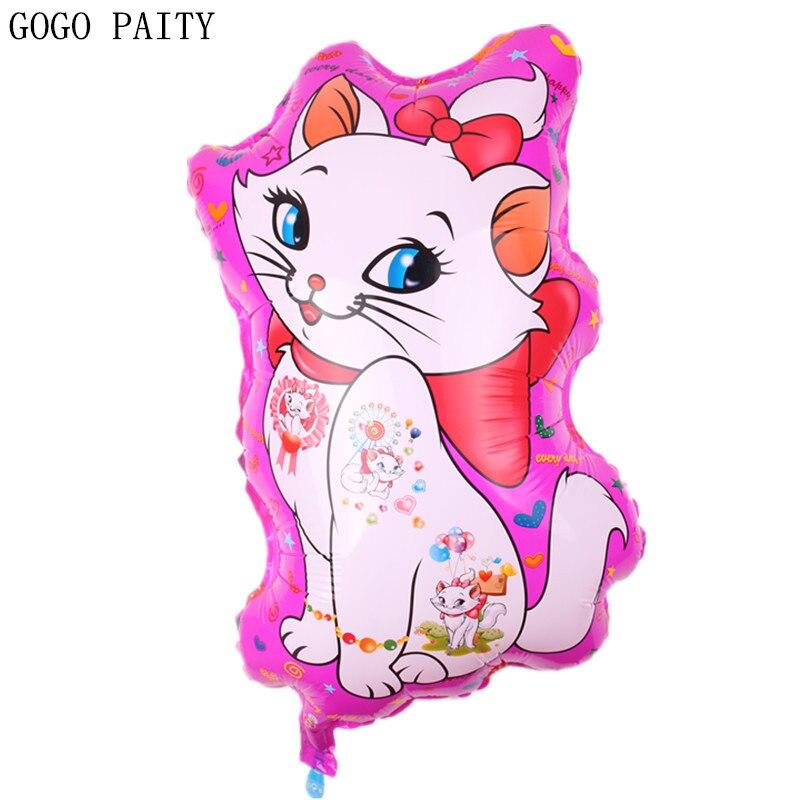 GOGO PAITY  Free Shipping New Cartoon Cat Aluminum Balloon Ball Birthday Party Decorative Arrangement