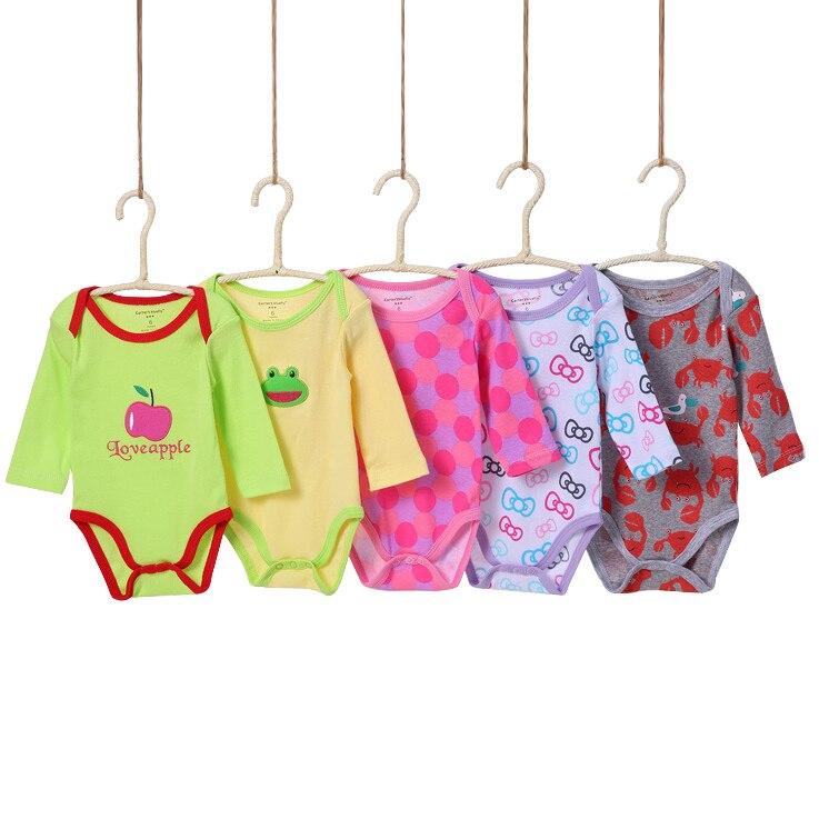 0-24 m Lindo Encantador 5 Unidades / Paquetes Baby boy Body Infantil - Ropa de bebé - foto 3