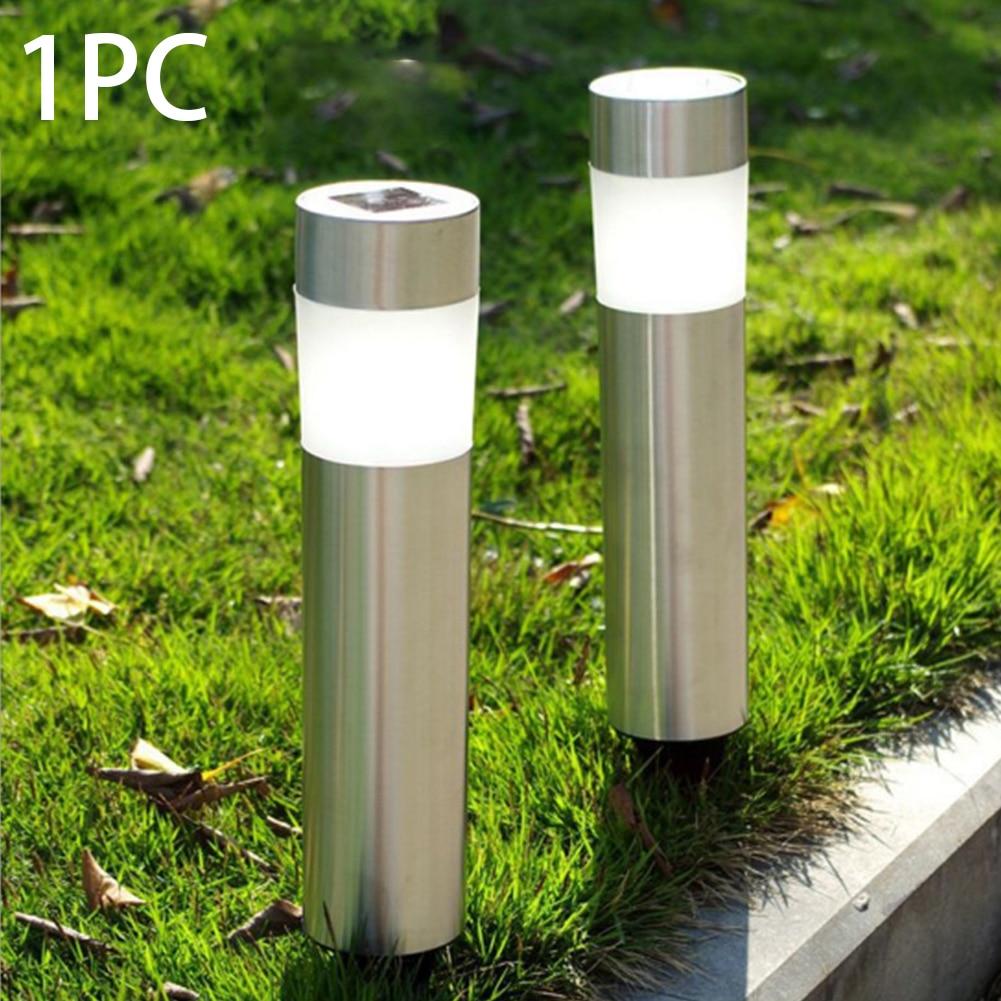 1Pc Solar Powered Courtyard Ground Lawn Lamp Outdoor Waterproof Wireless LED Bulb Garden Decor Lights Energy Saving Lamp