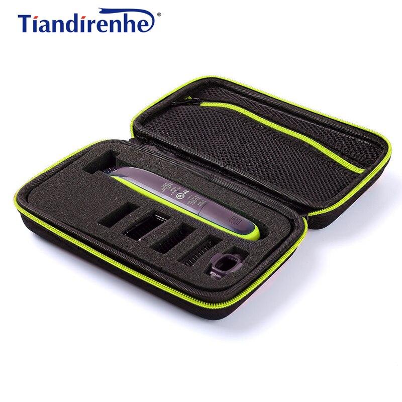 Tragbare Fall für Philips OneBlade Trimmer Rasierer und Zubehör EVA Reisetasche Lagerung Pack Box Abdeckung Mäppchen mit Futter