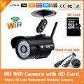 HD720P Пуля Черный Ip-камера Wi-Fi 1.0mp Беспроводной Seurveillance Безопасности Мини-Камера CMOS Ик Ночного Видения Freeshipping Горячей