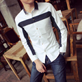 Men Shirt Long Sleeve 2016 Brand Shirts Men Casual Male Slim Fit Fashion Stitch Color Chemise Mens Camisas Dress Shirts