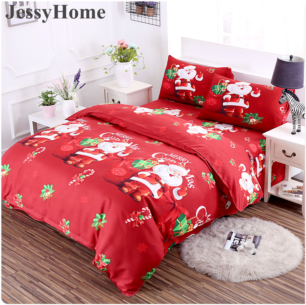 queen christmas from bedding linens size soft cartoon king mima item cotton style twin in cover home papa sets set trees deer duvet bed