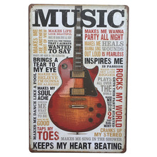 New Modern Music Home Iron Sign Retro Classic Guitar Plaque Cool Metal Vintage Lover Gift Plate Art Pub Poster 20x30cm
