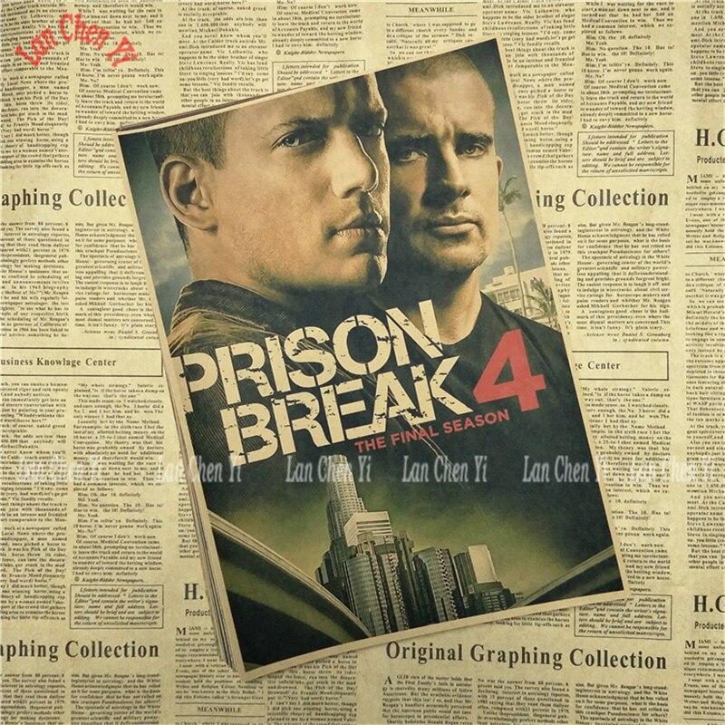Կլասիկ հեռուստասերիալ Prison Break Kraft Paper - Տնային դեկոր - Լուսանկար 3