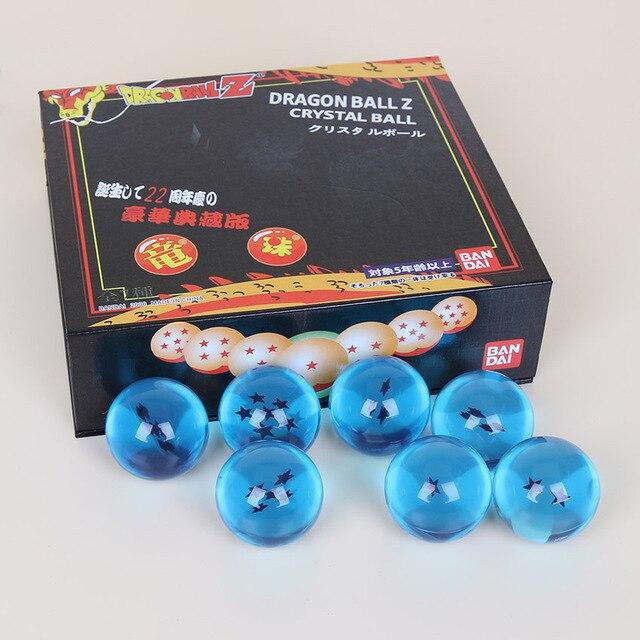 2 estilos 4 cm Dragonball Dragon Ball Z Kai GT 7 Estrelas Crystal Ball Bolas Completa Coleção Figuras de Ação Brinquedo definir Presentes de Aniversário