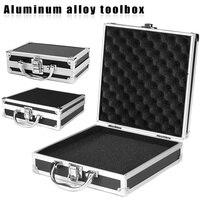 Portátil de alumínio carry caso ferramenta esponja caixa armazenamento organizador ferramenta viagem titular de armazenamento objetos de valor boxwwo66|Armários p/ ferramenta|   -