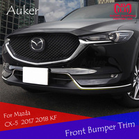 For Mazda CX 5 CX5 2017 2018 KF Car Head Bottom Stainless Steel Bumper Chrome Molding Grille Trim Strips Garnish Car Styling