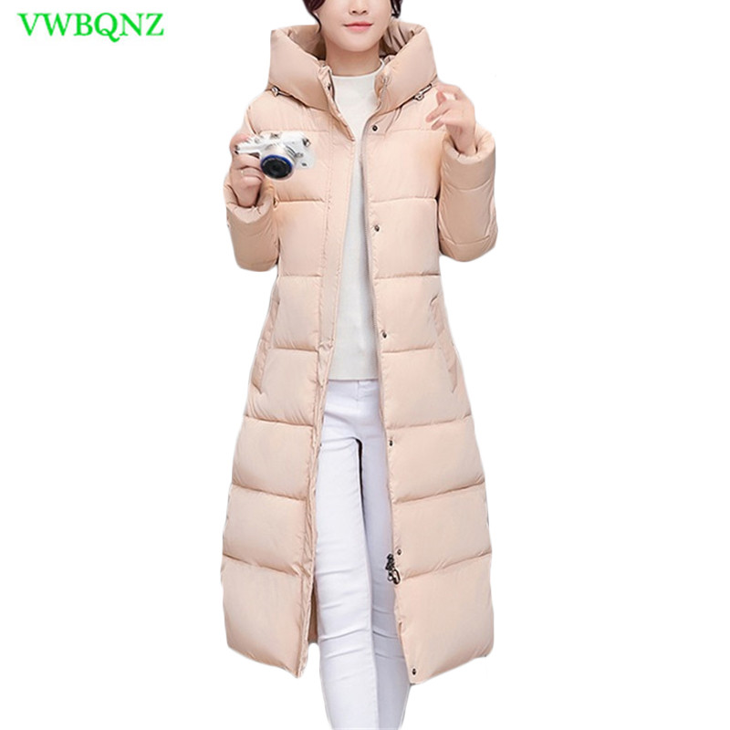 Winter Hooded   Parka   Jacket Women Warm Down cotton Jackets Fashion Slim Students Coat Women's Plus Size Khaki Outerwear 3XL A943