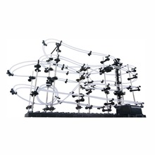 Level 3 16M Perpetual Rollercoaster Marble Run Coaster Space Rail Roller Ball Set Spiral Lift