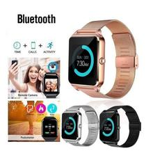 2019 Popular Z60 Bluetooth Smart Wrist Watch Pedometer Sleep Monitor Call for iOS Android все цены