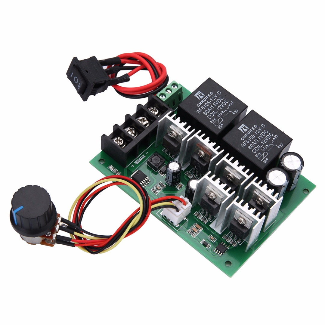 DC 10V-50V 12/24/36/48V 60A Motor Speed Controller Electric PWM Speed Control Regulator With CW CCW Reversible Switch Mayitr
