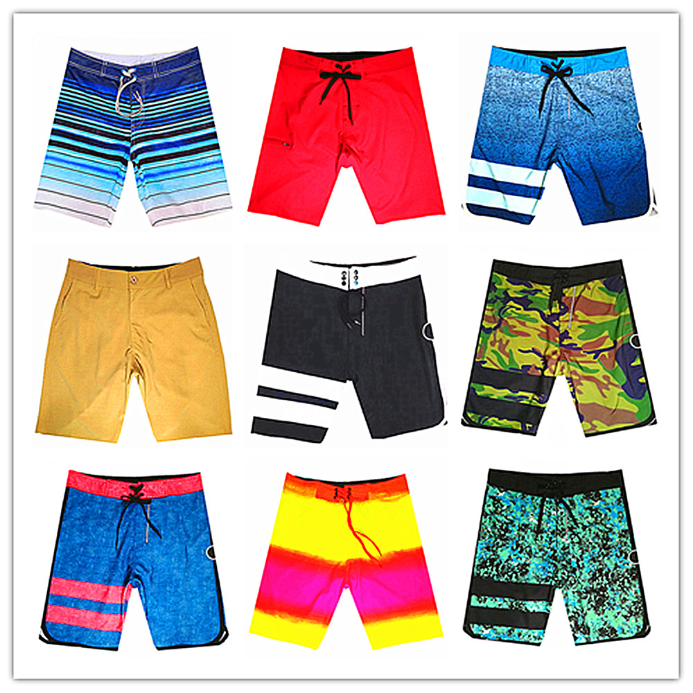 Wholesale Retail 2018 Brand Phantom Men Beach   Board     Short   Swimwear 100% Quick Dry Elastic Spandex Swimtrunks Sexy Man Boardshort