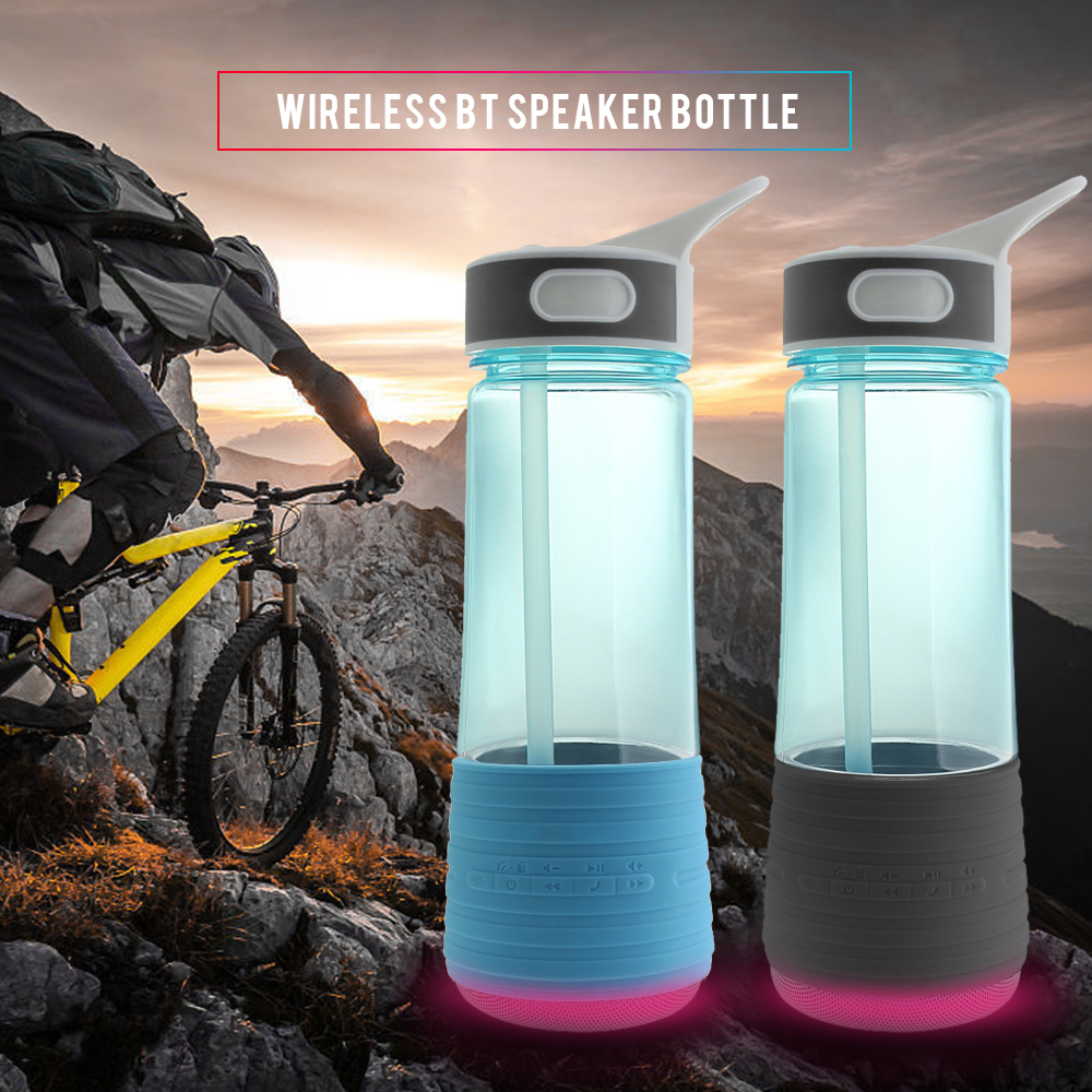 Outdoor Sport Water Bottle Portable 2 in 1 BT Water Bottle Bluetooth Wireless Speaker Camping Hiking Cycling Riding Bottle
