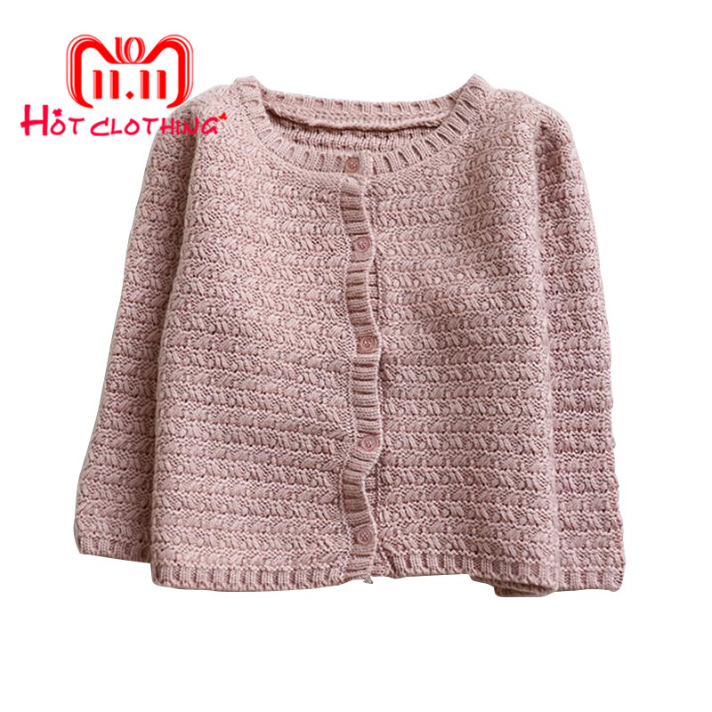 купить Baby Girls Clothes Kids Sweaters Outerwear Knitted Warm Cardigan Sweater Coat Long Sleeve Autumn Winter Outwear по цене 513.38 рублей