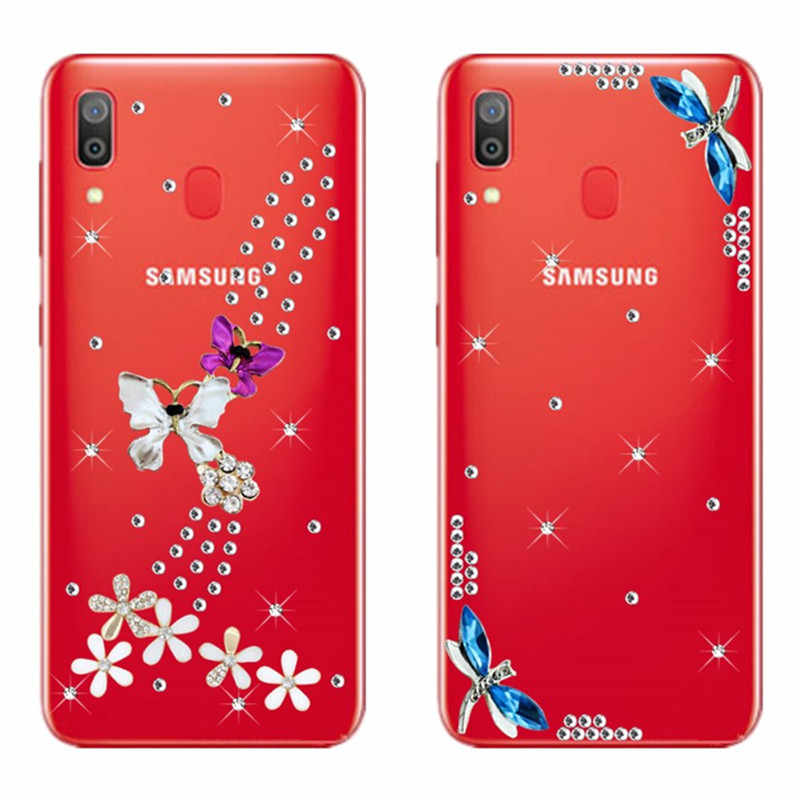 Rhinestone Cases For Samsung Galaxy A70 Case A50 A30 A20E A20 A10 M30 M20 M10 A750 Luxury Diamond phone Cover For A9Pro 2019