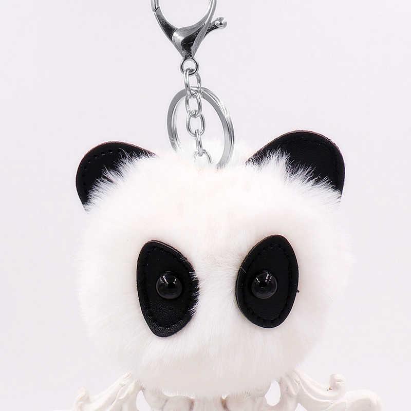 لطيف فو الفراء الكرة بوم بوم هريرة المفاتيح الباندا مفتاح سلسلة بوم بوم امرأة حقيبة سحر الدب لعبة رجل سيارة كيرينغ حلية مجوهرات هدية