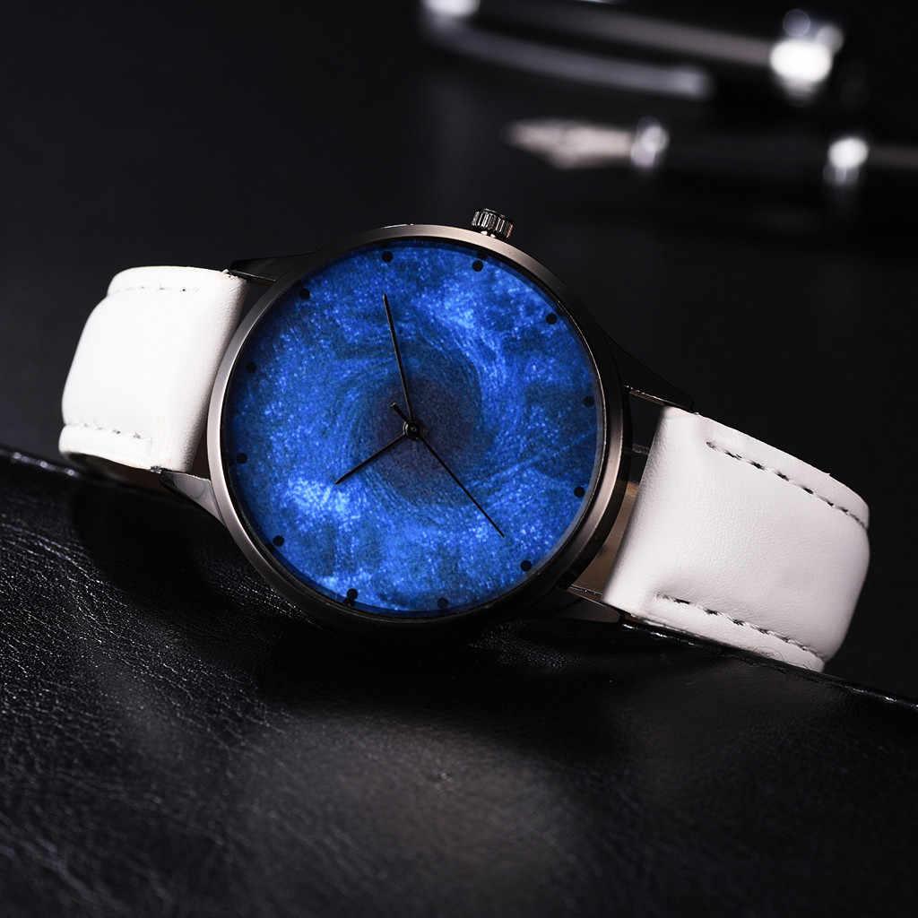 الرجال النساء السيدات الساعات الكون الأزرق الداكن ستار دوامة كوارتز ساعة معصم relojes hombre reloj دي hombre reloj دي موهير سات
