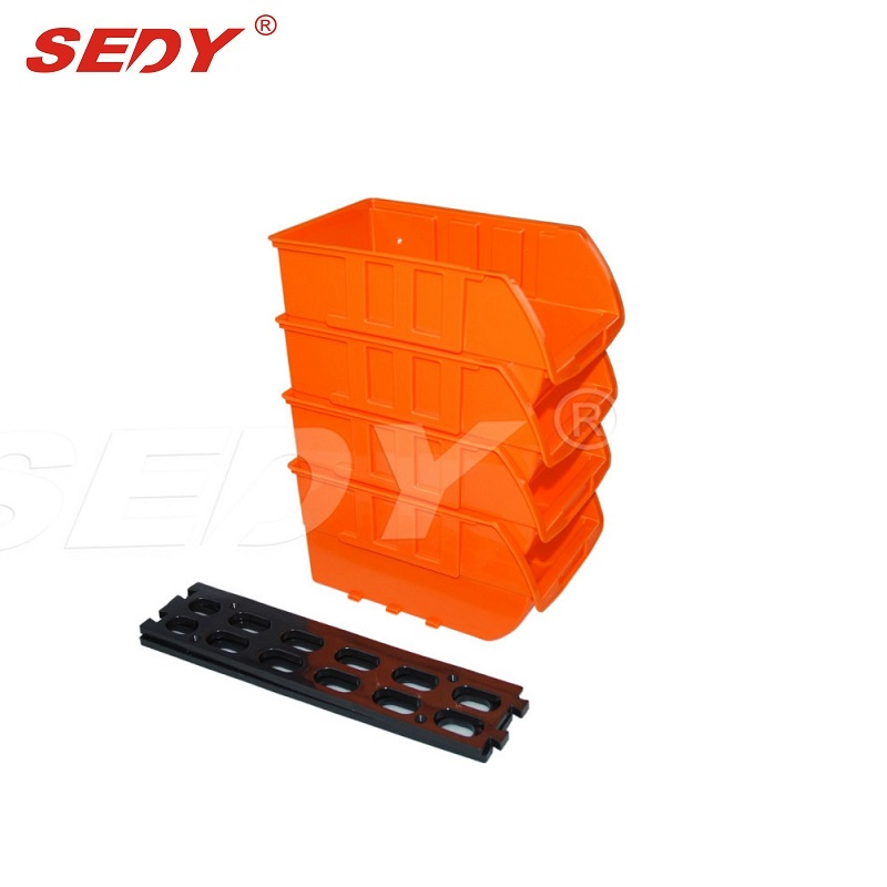 SEDY  New 4pcs Plastic Stackable Trays Removable From Rail Align Horizontally Stack Vertically Sedy Tool  97903