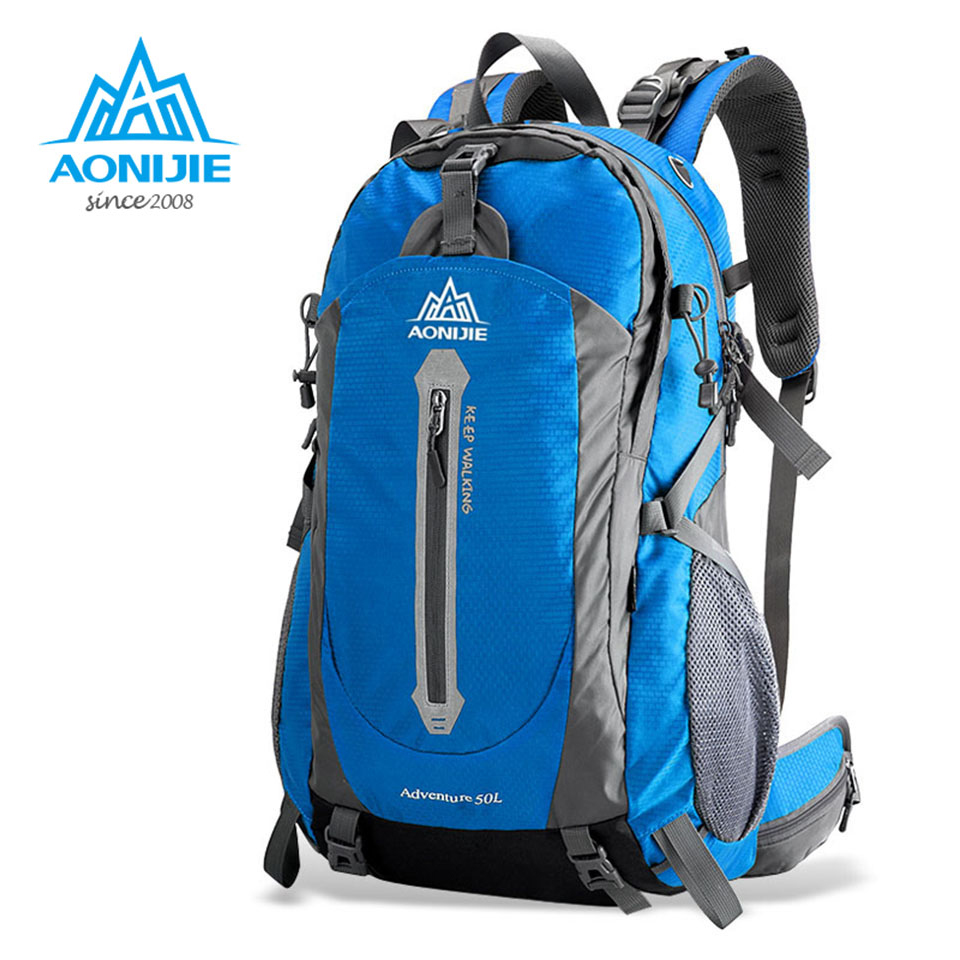 AONIJIE Outdoor Sport Bag Travel Backpack Climbing Backpack Schoolbag Climb Knapsack Hiking Backpack Camping Packsack 40L 50L 40l outdoor hiking backpack 2l personal waist bag for travel climbing camping