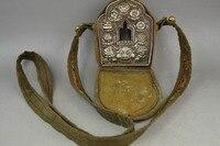 Vintage Bijoux à la main Au Népal Vajrasattva six mot boîte soutenir accessoires Oh GA Rune ornements