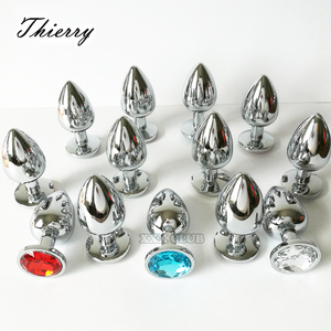 Thierry 100% real photo Metal Anal Butt Plug Stainless Steel Anal Plug Erotic sex toys for Adults games Sex Products For women(China)