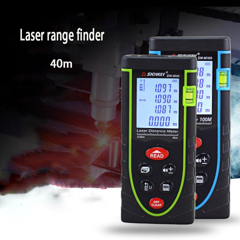 40m Digital Laser distance meter Rangefinder Range finder Tape measure Area/volume tool [randomtext category=