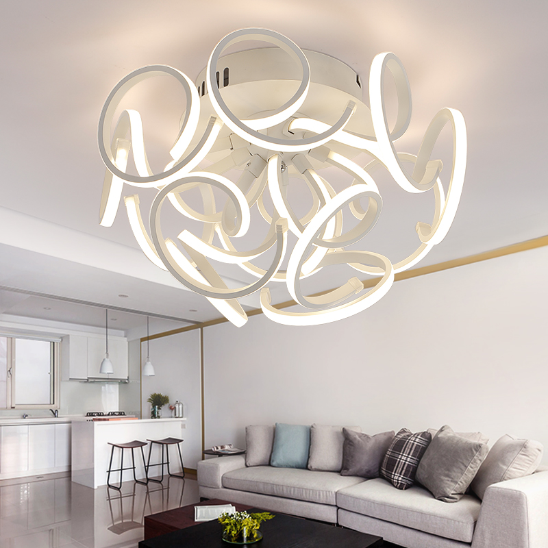 round ceiling lighting for deco home bedroom living acrylic kitchen lamp plafonnier luminarias. Black Bedroom Furniture Sets. Home Design Ideas