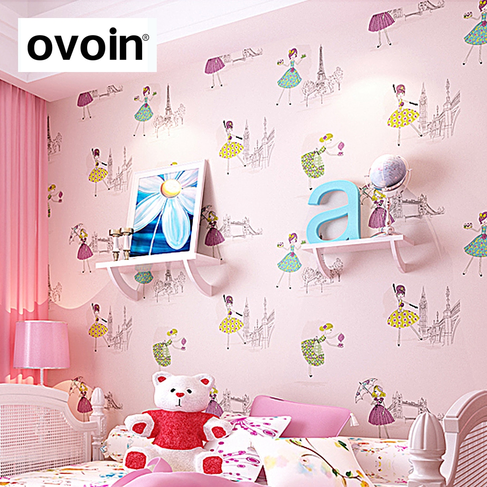 purple wall papers for kids room