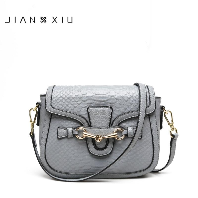 JIANXIU 2018 Fashion Genuine Leather Bags women crossbody bags Ladies crocodile pattern leather shoulder messenger bags Clutch
